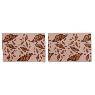Monarch-Gemisch-Kissenbezüge (Pfirsich/Schokolade) Kissen Bezug