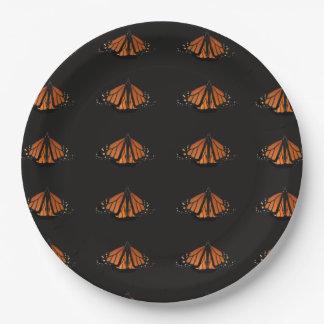 Monarch im Schlüssel der Orange und des Schwarzen Pappteller