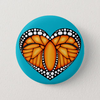Monarch-Liebe Runder Button 5,1 Cm