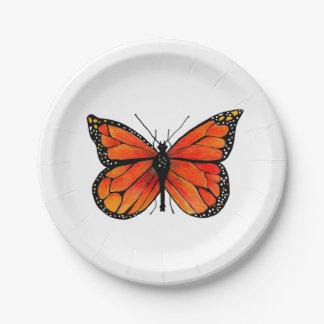 Monarch-Schmetterling auf PapierTeller