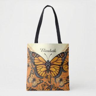 Monarch-Schmetterling personalisiert Tasche