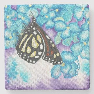 Monarch-Schmetterling u. Steinuntersetzer