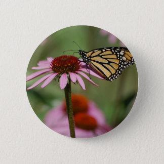 Monarch-Schmetterling und schwarze mit Augen Susan Runder Button 5,7 Cm