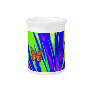 Monarch-Schmetterlings-lila tropische Getränke Pitcher
