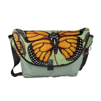 Monarch-Schmetterlings-Wirbel Kurier Taschen