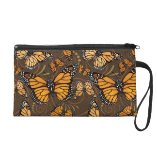 Monarch-Schmetterlings-Wirbel Wristlet Handtasche