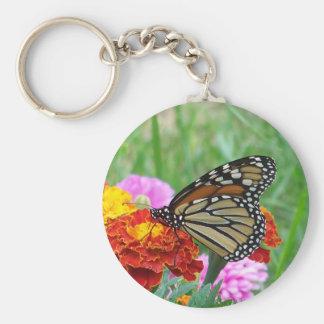 Monarch und die Ringelblumen Schlüsselanhänger