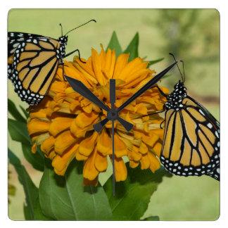 Monarchen u. Blumenquadratische Acrylwanduhr Quadratische Wanduhr
