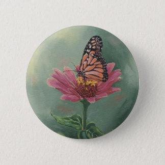 Monarchfalter 0465 auf Zinnia Runder Button 5,7 Cm