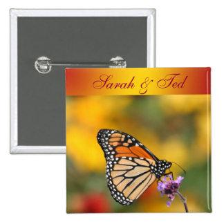 Monarchfalter auf der Suche nach Blütenstaub Quadratischer Button 5,1 Cm