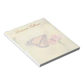 Monarchfalter auf Zinnia Notizblock