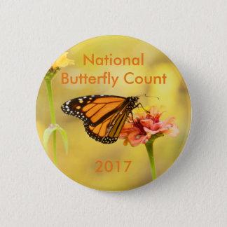 Monarchfalter auf Zinnia Runder Button 5,1 Cm