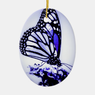 Monarchfalter, Blau - Keramik Ornament