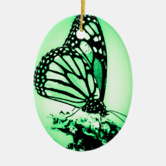 Monarchfalter, Grün Keramik Ornament