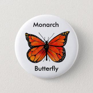 Monarchfalter-Illustration auf Knopf Runder Button 5,7 Cm