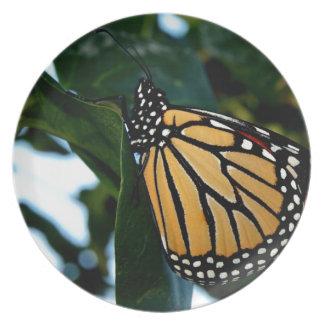 Monarchfalter in den Fliedern Melaminteller