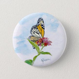 Monarchfalter-Knopf Runder Button 5,7 Cm