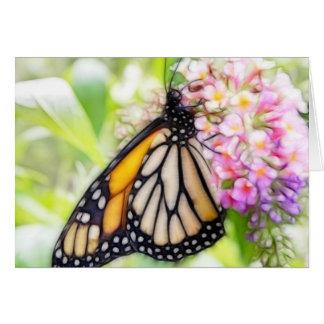 Monarchfalter-nippender Nektar Karte