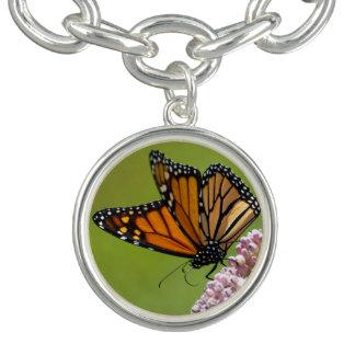 Monarchfalter-rundes Charme-Armband Charm Armband