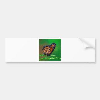 Monarchfalter-Schönheit gemalt Autoaufkleber