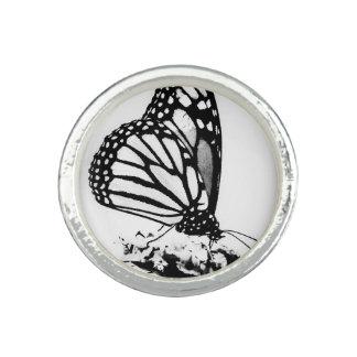 Monarchfalter, schwarz u. Weiß - Foto Ring