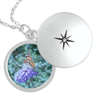 Monarchfalter-SterlingsilberLocket Medaillon