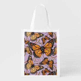 Monarchfalter-Verrücktheit Wiederverwendbare Einkaufstasche