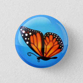 Monarchfliegen an einem vollen Tag - Knopf Runder Button 2,5 Cm