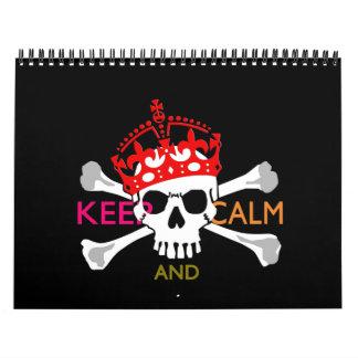 Monatlichespersonalisiertes BEHALTEN RUHE UND Kalender