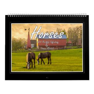 Monatskalender der Pferd2018 durch Tom Minutolo Wandkalender