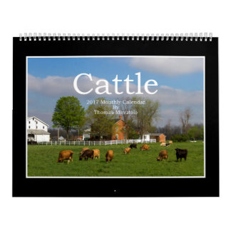 Monatskalender des Vieh-2017 durch Thomas Minutolo Wandkalender