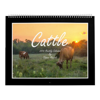 Monatskalender des Vieh-2018 durch Thomas Minutolo Kalender