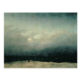 Mönch durch Meer, 1809 Postkarte
