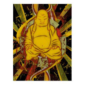 Mönch in der Meditation Postkarte