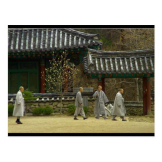 Mönche an palgong Berg, Südkorea Postkarte