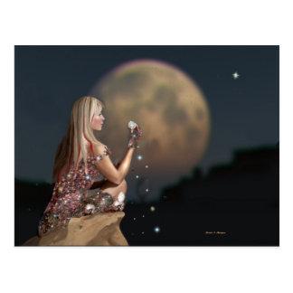 Mond-Blume Postkarte