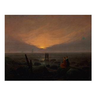 Mond, der über das Meer, 1821 steigt Postkarte
