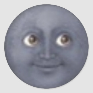 Mond emoji Aufkleber