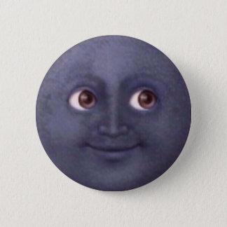 Mond Emoji Knopf Runder Button 5,7 Cm