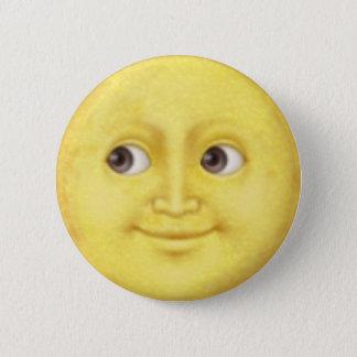 Mond Emoji Runder Button 5,7 Cm