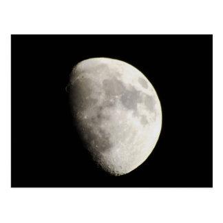 Mond-Gibbous. am 18. Juni 2013 einwachsen Postkarte