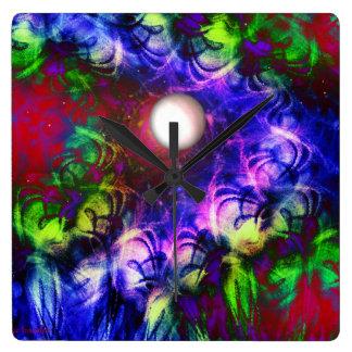 Mond-Glühen Quadratische Wanduhr