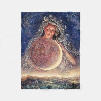 Mond-Göttin-FleeceThrow Fleecedecke