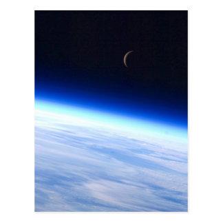 Mond-Halbmond von der Bahn Postkarte