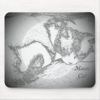 Mond-Katzen-Digital-FotoMausunterlage Mousepad