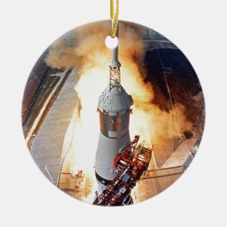 Mond-Landungs-Rocket-Produkteinführung der NASAs Keramik Ornament