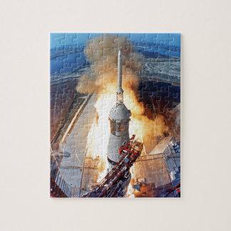 Mond-Landungs-Rocket-Produkteinführung der NASAs Puzzle
