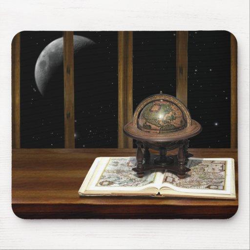 Mond mit einer Ansicht Mousepad