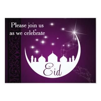 Mond mit Moscheen-Silhouette - Eid Party Einladung
