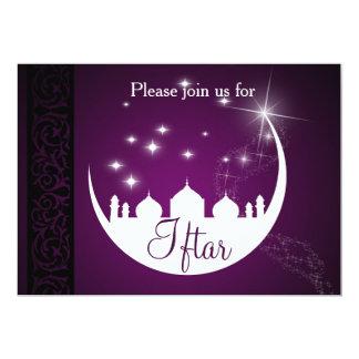 Mond mit Moscheen-Silhouette Iftar Party Einladung